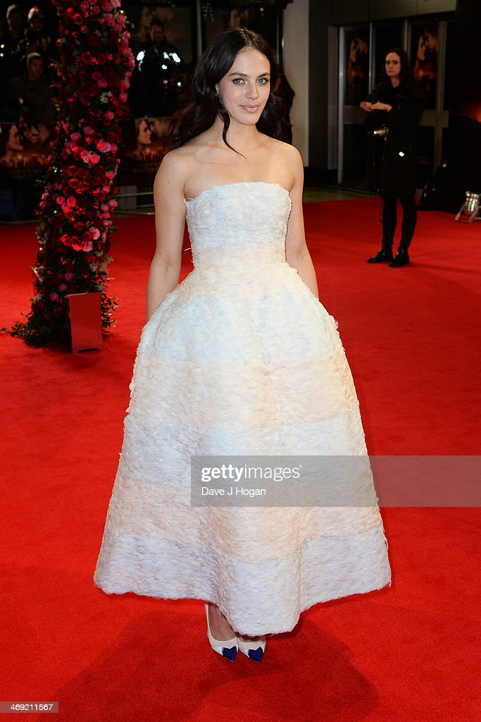 Jessica Brown Findlay attends the UK premiere of 'A New York Winter's Tale' at The Odeon Kensington on February 13, 2014 in London, England.