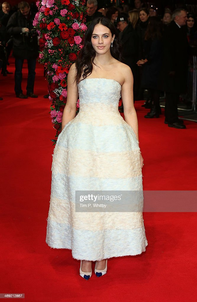 Jessica Brown Findlay attends the UK Premiere of 'New York Winter's Tale' at ODEON Kensington on February 13, 2014 in London, England.>>