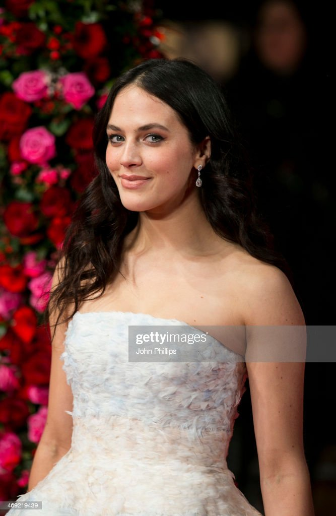 Jessica Brown Findlay attends the UK Premiere of 'New York Winter's Tale' at ODEON Kensington on February 13, 2014 in London, England.