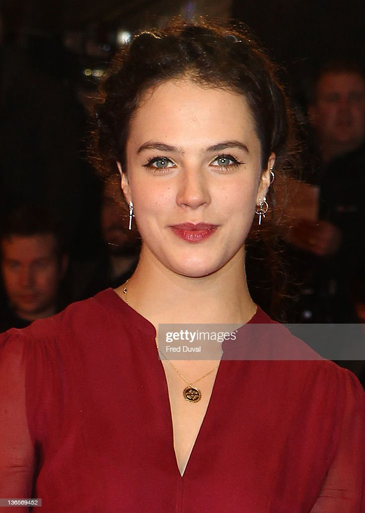 Jessica Brown Findlay attends the UK premiere of War Horse at Odeon Leicester Square on January 8, 2012 in London, England.