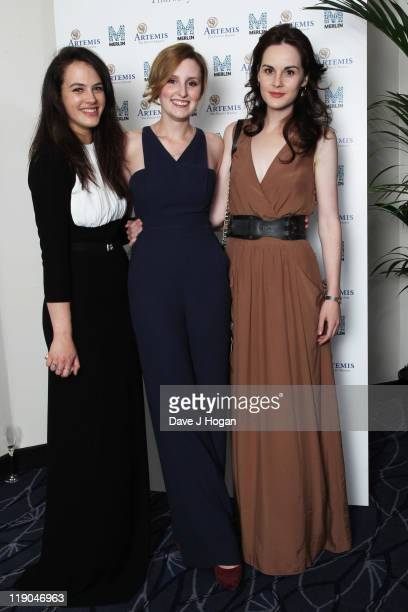 LR Jessica Brown Findlay Laura Carmichael and Michelle Dockery attend an Evening With Downton Abbey Raising Money For Merlin The Medical Relief...
