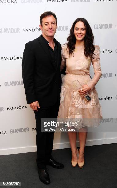 Jessica Brown Findlay with the award for Best UK TV Actress presented by Jason Issacs at the 2012 Glamour Women of the Year Awards in Berkeley Square...