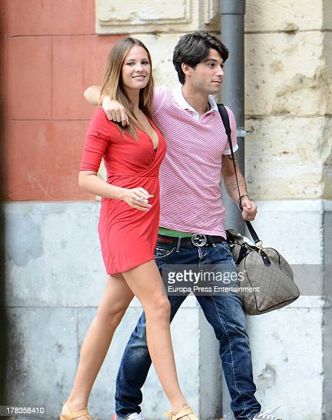 Jessica Bueno and Jota Peleteiro are seen on August 19 2013 in Eibar Spain