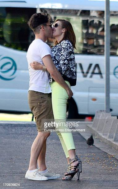 Jessica Bueno and Jota Peleteiro are seen on May 25 2013 in Madrid Spain