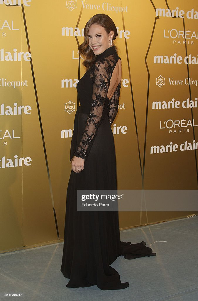Jessica Bueno attends 'Marie Claire Prix de la moda' awards 2013 photocall at Residence of France on November 21, 2013 in Madrid, Spain.
