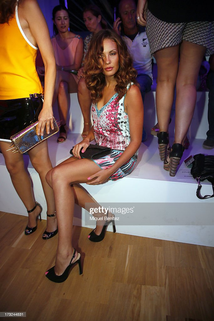 Jessica Bueno attends the Custo Dalmau's Spring-Summer 2014 Collection during 080 Barcelona Fashion Week on July 10, 2013 in Barcelona, Spain.