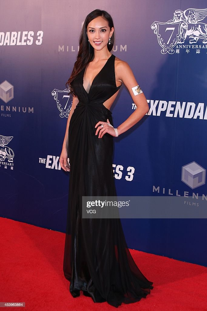 Jessica Cambensy arrives a special screening of 'The Expendables 3' at The Venetian Macao on August 22, 2014 in Macau, Macau.