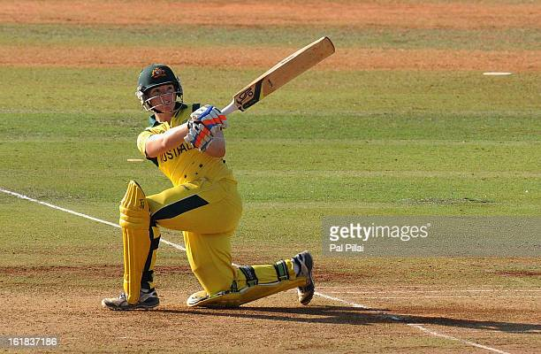 Jessica Cameron of Australia bats during the final between Australia and West Indies held at the CCI stadium on February 17 2013 in Mumbai India