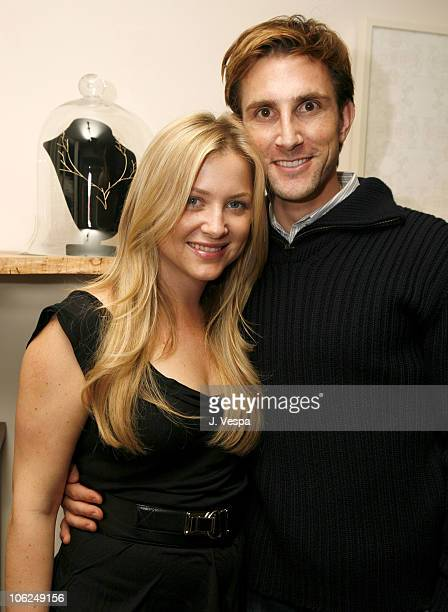 Jessica Capshaw and Christopher Gavigan during Cavern Wallpaper and Kidada for Disney Coutour Celebrate Their New Collections at Kaviar and Kind in...