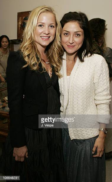 Jessica Capshaw and Sasha Alexander during Kaviar Kind Party for Jodi Guber and Matt Taylor September 28 2005 at Kaviar Kind in West Hollywood...