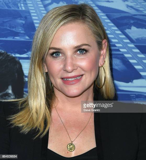 Jessica Capshaw arrives at the Premiere Of HBO's 'Spielberg' at Paramount Studios on September 26 2017 in Hollywood California