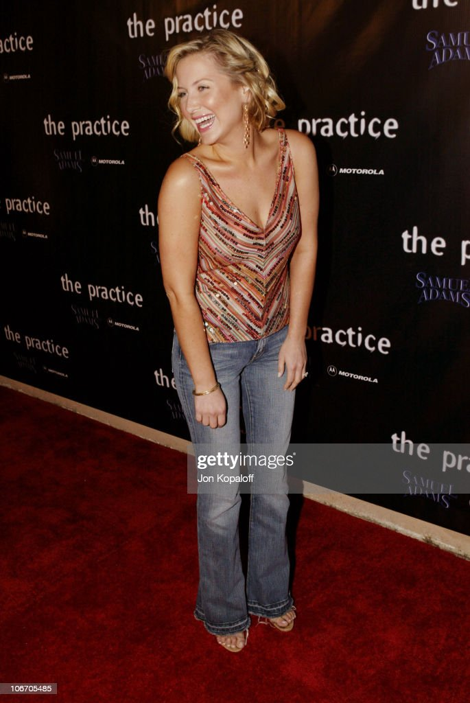 Jessica Capshaw during David E. Kelley and the cast of ABC's hit drama, 'The Practice,' celebrate the launch of their eighth season at The Buffalo Club in Santa Monica, California, United States.