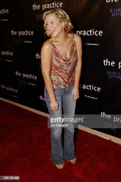 Jessica Capshaw during David E Kelley and the cast of ABC's hit drama 'The Practice' celebrate the launch of their eighth season at The Buffalo Club...