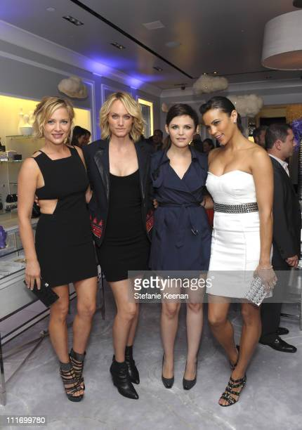 Jessica Capshaw Ginnifer Goodwin Amber Valletta and Paula Patton attend the Judith Leiber Rodeo Drive store opening on September 23 2009 in Beverly...