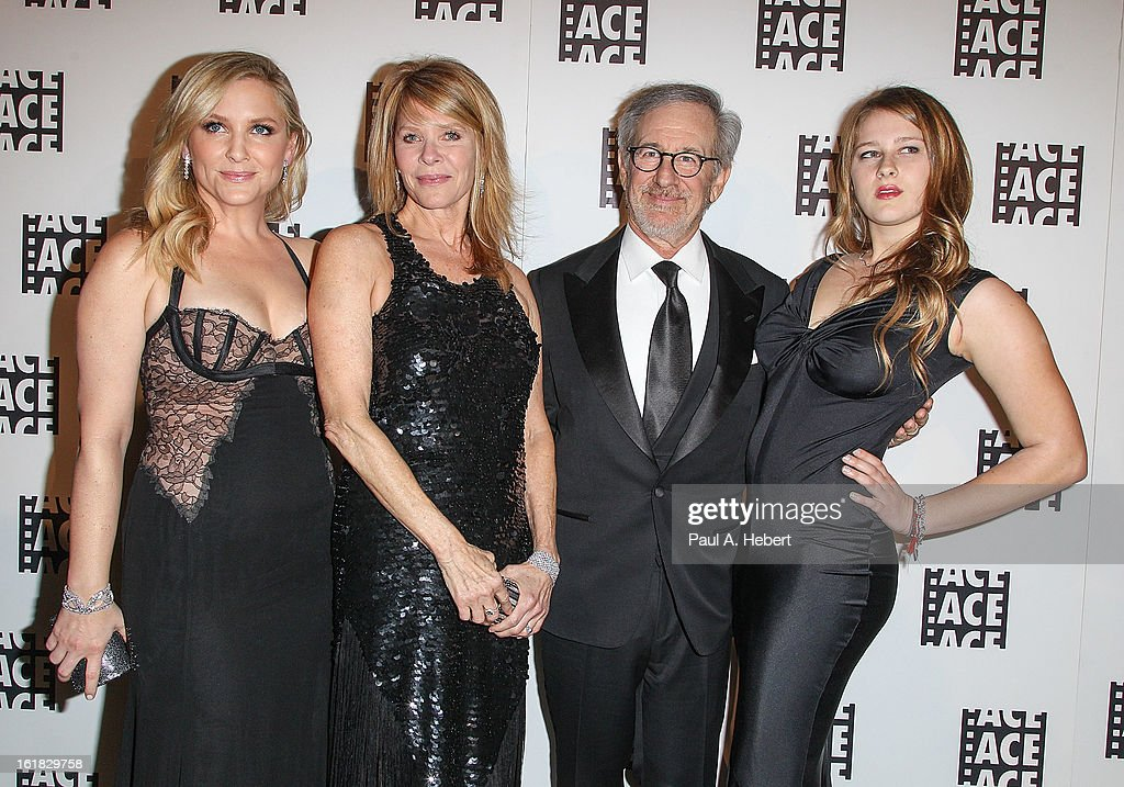 Jessica Capshaw, Kate Capshaw, Steven Spielberg, and Destry Allyn Spielberg arrive at the 63rd Annual ACE Eddie Awards held at The Beverly Hilton Hotel on February 16, 2013 in Beverly Hills, California.