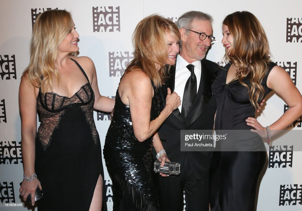<a gi-track='captionPersonalityLinkClicked' href=/galleries/search?phrase=Jessica+Capshaw&family=editorial&specificpeople=207034 ng-click='$event.stopPropagation()'>Jessica Capshaw</a>, <a gi-track='captionPersonalityLinkClicked' href=/galleries/search?phrase=Kate+Capshaw&family=editorial&specificpeople=204585 ng-click='$event.stopPropagation()'>Kate Capshaw</a>, <a gi-track='captionPersonalityLinkClicked' href=/galleries/search?phrase=Steven+Spielberg&family=editorial&specificpeople=202022 ng-click='$event.stopPropagation()'>Steven Spielberg</a> and Destry Allyn Spielberg attend the 63rd Annual ACE Eddie Awards at The Beverly Hilton Hotel on February 16, 2013 in Beverly Hills, California.
