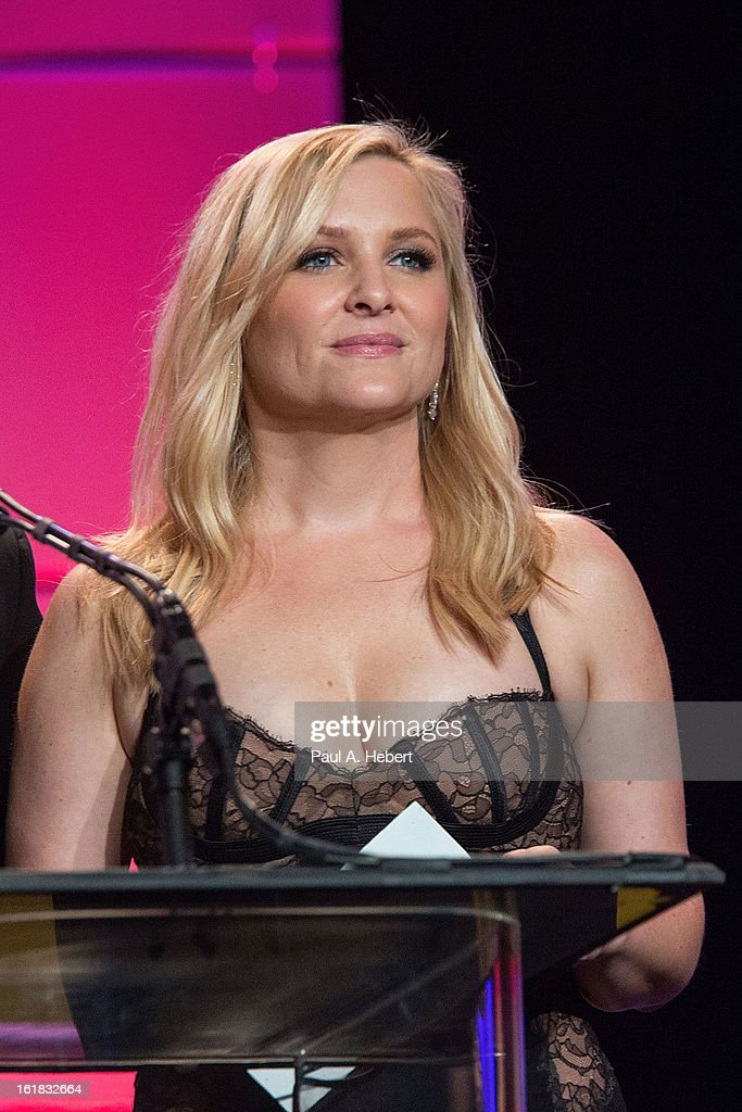 Jessica Capshaw presents the nominees for Best Edited One-Hour Series for Commercia Television during the 63rd Annual ACE Eddie Awards held at The Beverly Hilton Hotel on February 16, 2013 in Beverly Hills, California.