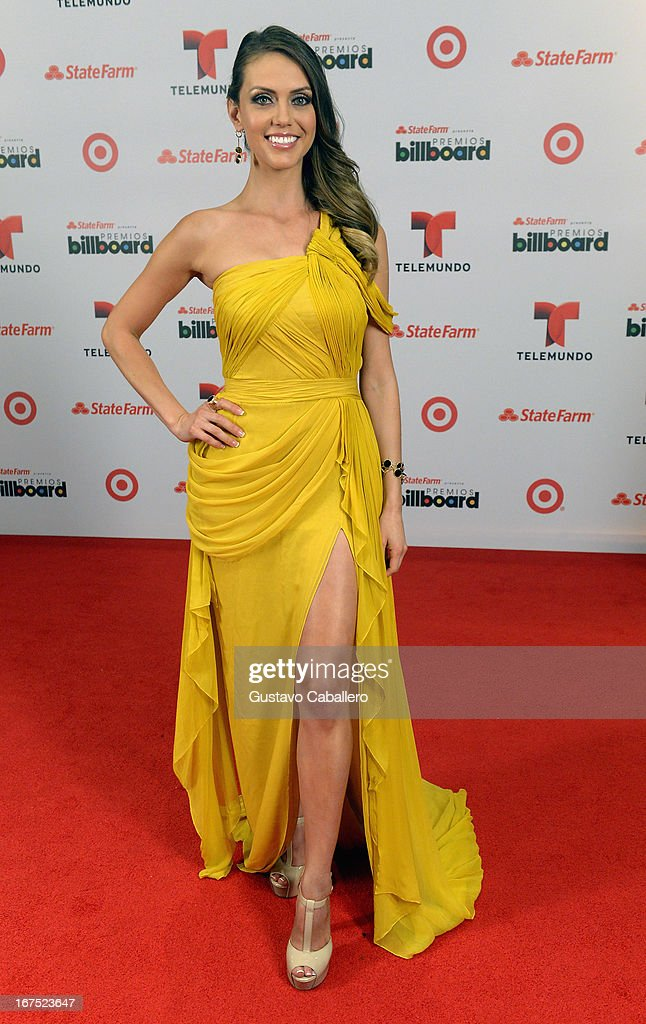 Jessica Carrillo poses backstage at Billboard Latin Music Awards 2013 at Bank United Center on April 25, 2013 in Miami, Florida.