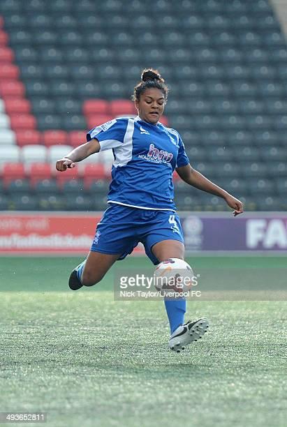 Jessica Carter of Birmingham City Ladies in action during the FAWSL fixture between Liverpool Ladies and Birmingham City Ladies at Select Security...