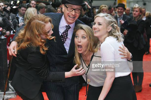 Jessica Chaffin Paul Feig Jamie Denbo Katie Dippold attends the gala screening of 'The Heat' at The Curzon Mayfair on June 13 2013 in London England
