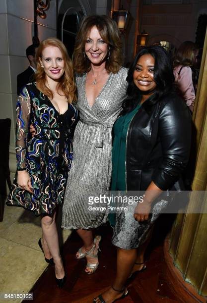 Jessica Chastain Allison Janney and Octavia Spencer attend The Hollywood Foreign Press Association and InStyle's annual celebrations of the 2017...