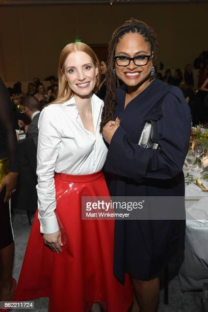 Jessica Chastain and Ava DuVernay attend ELLE's 24th Annual Women in Hollywood Celebration presented by L'Oreal Paris Real Is Rare Real Is A Diamond...