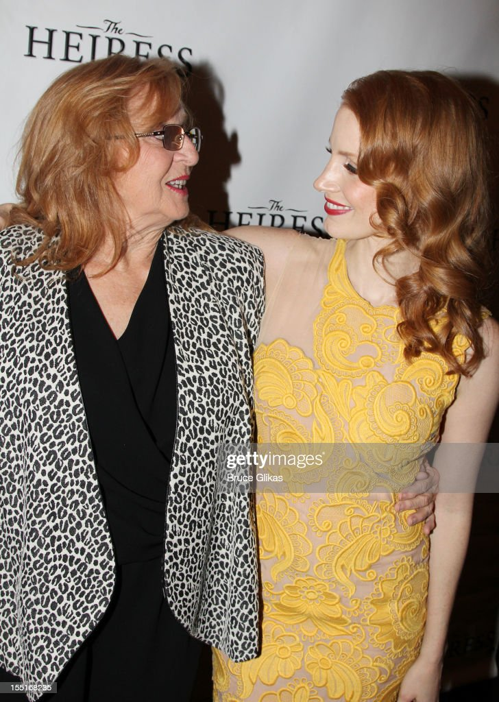 Jessica Chastain (R) and grandmother Marilyn (L) attend the opening night after party for the revival of 'The Heiress' on Broadway at The Edison Ballroom on November 1, 2012 in New York City.