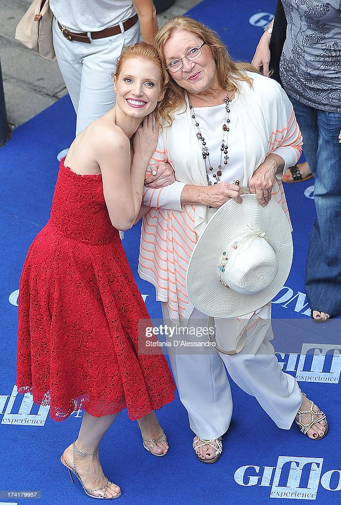 Jessica Chastain and her grandmother Marilyn attend 2013 Giffoni Film Festival Blue Carpet on July 21, 2013 in Giffoni Valle Piana, Italy.