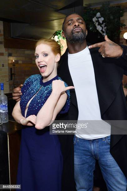 Jessica Chastain and Idris Elba attend MOLLY'S GAME premiere party hosted by GREY GOOSE Vodka at The Citizen on September 8 2017 in Toronto Canada