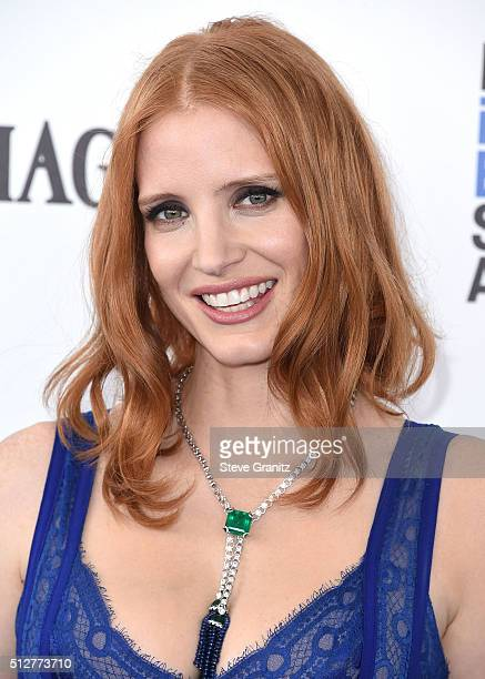 Jessica Chastain arrives at the 2016 Film Independent Spirit Awards on February 27 2016 in Santa Monica California