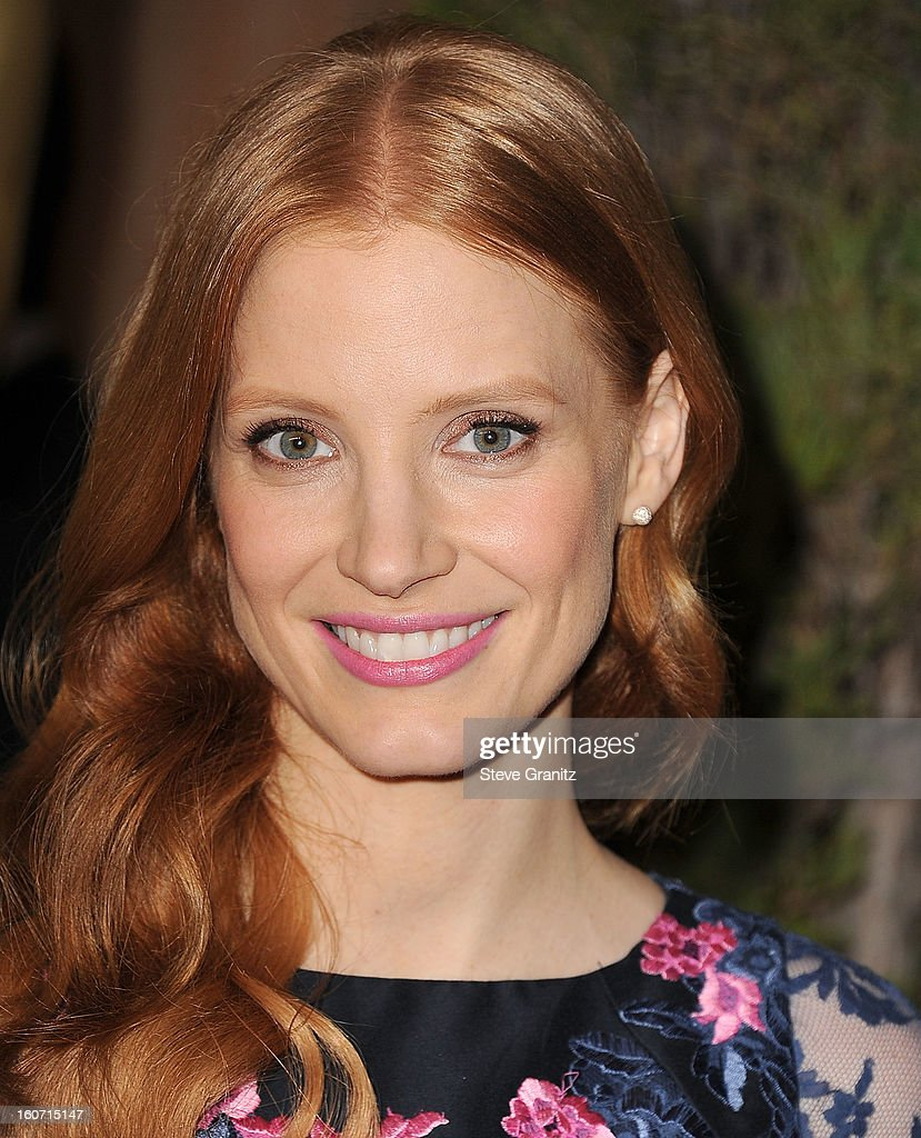 Jessica Chastain arrives at the 85th Academy Awards - Nominees Luncheon at The Beverly Hilton Hotel on February 4, 2013 in Beverly Hills, California.
