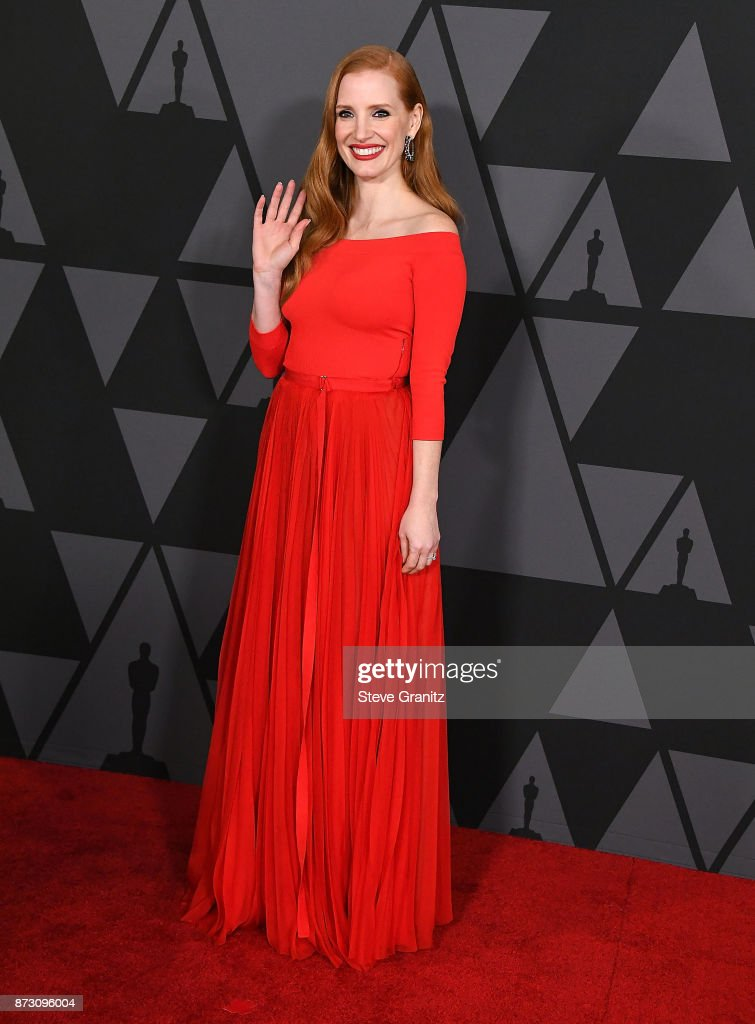 Jessica Chastain arrives at the Academy Of Motion Picture Arts And Sciences' 9th Annual Governors Awards at The Ray Dolby Ballroom at Hollywood & Highland Center on November 11, 2017 in Hollywood, California.