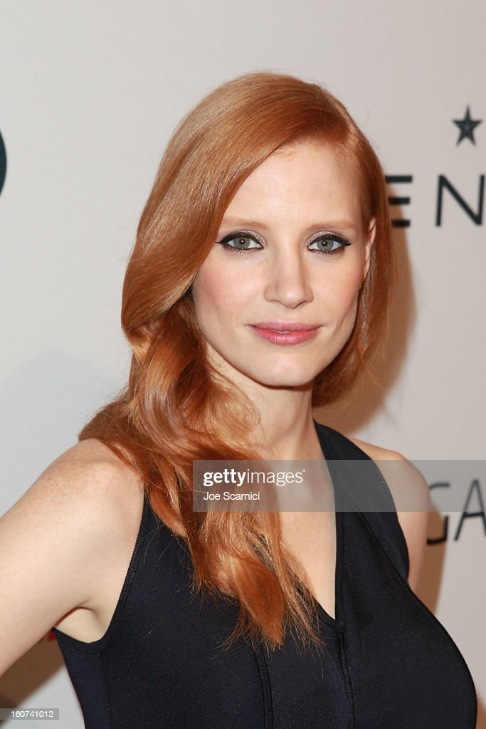 <a gi-track='captionPersonalityLinkClicked' href=/galleries/search?phrase=Jessica+Chastain&family=editorial&specificpeople=653192 ng-click='$event.stopPropagation()'>Jessica Chastain</a> arrives at The Hollywood Reporter nominees' night 2013 celebrating 85th annual Academy Award nominees at Spago on February 4, 2013 in Beverly Hills, California.
