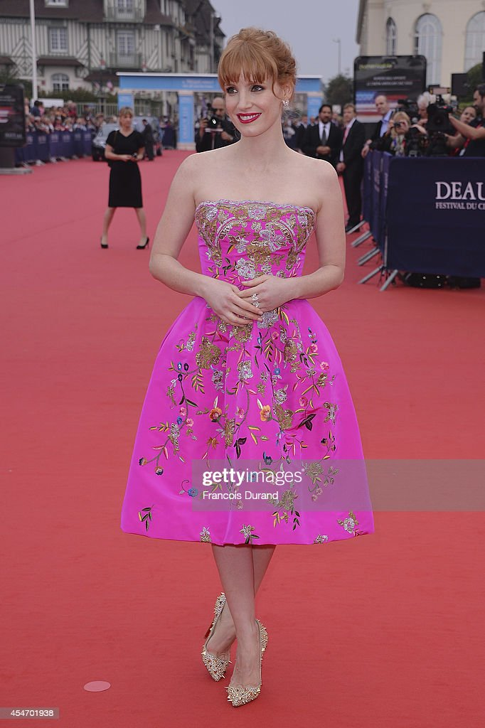 Jessica Chastain arrives at the opening ceremony of 40th Deauville American Film Festival on September 5 2014 in Deauville France
