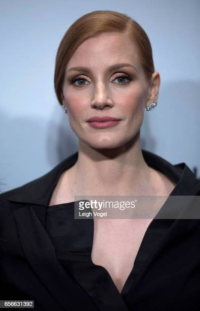 Jessica Chastain arrives at 'The Zookeeper's Wife' Washington DC Screening at United States Holocaust Memorial Museum on March 22 2017 in Washington...