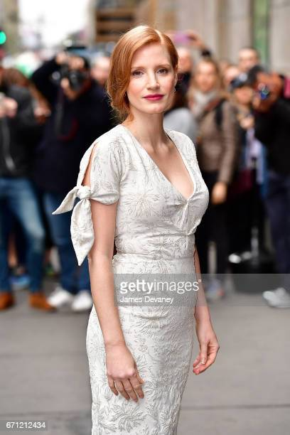 Jessica Chastain arrives to Variety's Power of Women New York luncheon at Cipriani Midtown on April 21 2017 in New York City