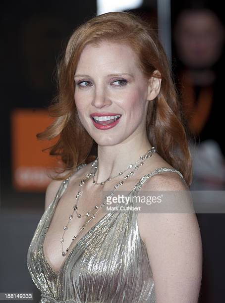 Jessica Chastain Arriving For The 2012 Orange British Academy Film Awards At The Royal Opera House Bow Street London