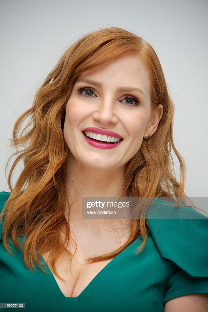 <a gi-track='captionPersonalityLinkClicked' href=/galleries/search?phrase=Jessica+Chastain&family=editorial&specificpeople=653192 ng-click='$event.stopPropagation()'>Jessica Chastain</a> at the 'A Most Violent Year' Press Conference at the Four Seasons Hotel on November 18, 2014 in Beverly Hills, California.