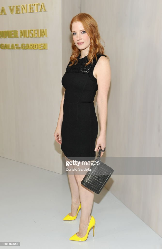 Jessica Chastain at the Hammer Museum 15th Annual Gala in the Garden with Generous Support from Bottega Veneta on October 14, 2017 in Los Angeles, California.