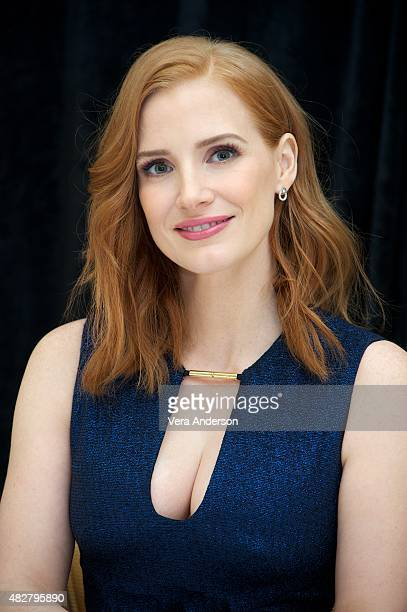 Jessica Chastain at 'The Martian' Press Conference at the Ritz Carlton Hotel on August 1 2015 in New York City