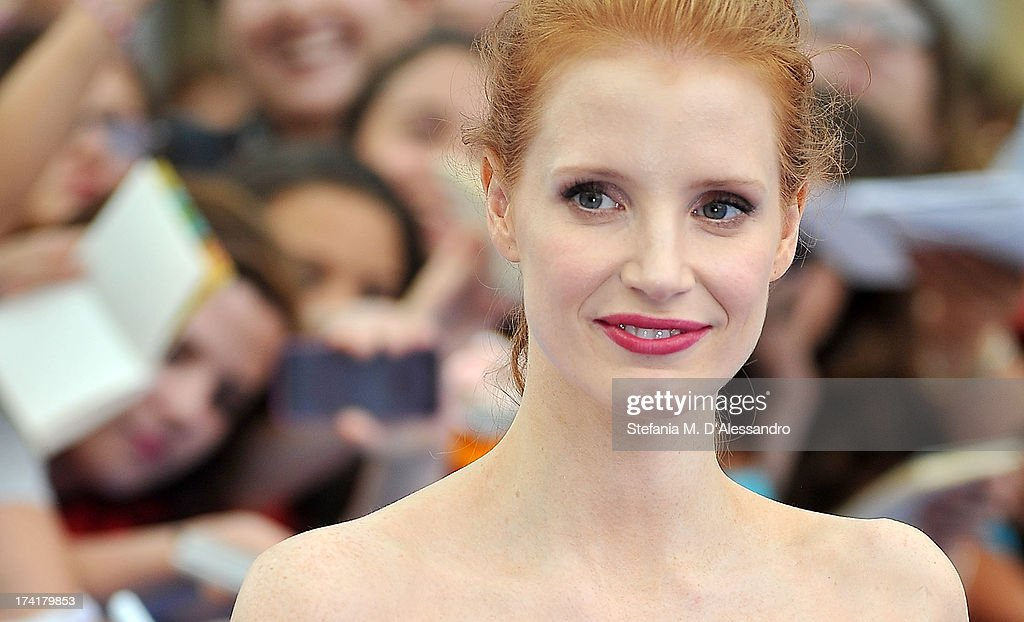 <a gi-track='captionPersonalityLinkClicked' href=/galleries/search?phrase=Jessica+Chastain&family=editorial&specificpeople=653192 ng-click='$event.stopPropagation()'>Jessica Chastain</a> attends 2013 Giffoni Film Festival Blue Carpet on July 21, 2013 in Giffoni Valle Piana, Italy.