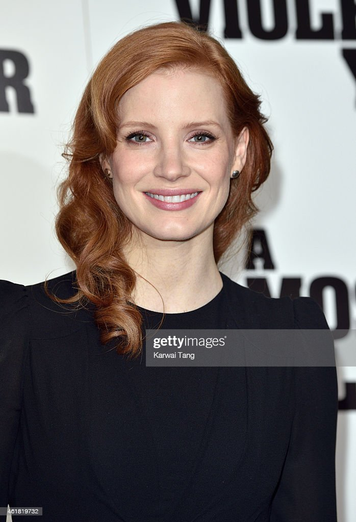 <a gi-track='captionPersonalityLinkClicked' href=/galleries/search?phrase=Jessica+Chastain&family=editorial&specificpeople=653192 ng-click='$event.stopPropagation()'>Jessica Chastain</a> attends a photocall for 'A Most Violent Year' at The Soho Hotel on January 20, 2015 in London, England.