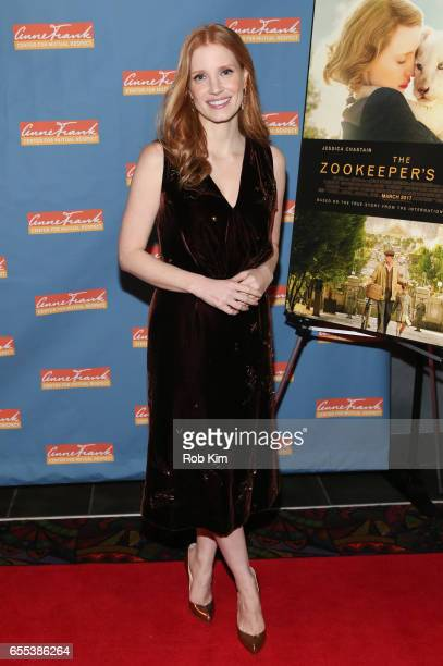 Jessica Chastain attends a special screening of 'The Zookeeper's Wife' at Regal Union Square on March 19 2017 in New York City