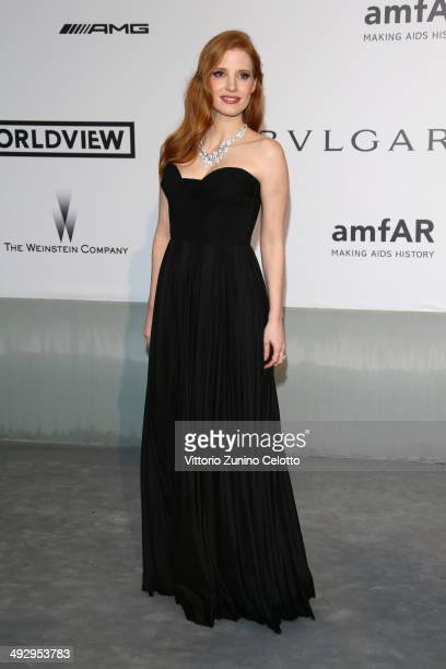 Jessica Chastain attends amfAR's 21st Cinema Against AIDS Gala Presented By WORLDVIEW BOLD FILMS And BVLGARI at Hotel du CapEdenRoc on May 22 2014 in...