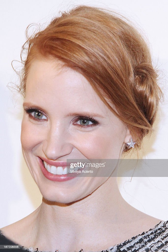 Jessica Chastain attends An Evening Honoring Karl Lagerfeld at Alice Tully Hall on November 6, 2013 in New York City.
