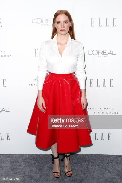 Jessica Chastain attends ELLE's 24th Annual Women in Hollywood Celebration at Four Seasons Hotel Los Angeles at Beverly Hills on October 16 2017 in...