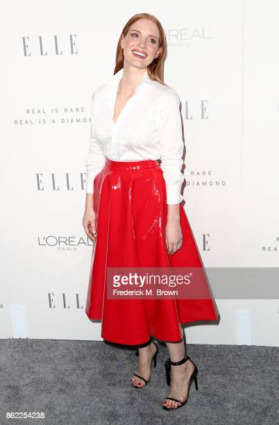 Jessica Chastain attends ELLE's 24th Annual Women in Hollywood Celebration at the Four Seasons Hotel Los Angeles at Beverly Hills on October 16 2017...