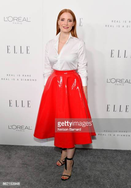 Jessica Chastain attends ELLE's 24th Annual Women in Hollywood Celebration presented by L'Oreal Paris Real Is Rare Real Is A Diamond and CALVIN KLEIN...