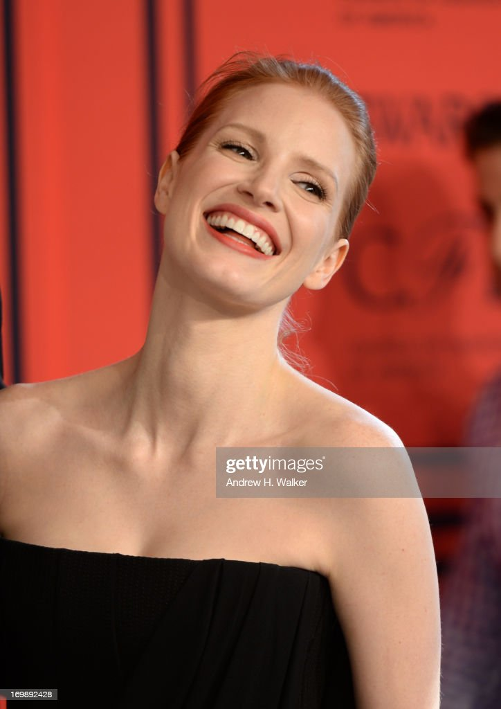 <a gi-track='captionPersonalityLinkClicked' href=/galleries/search?phrase=Jessica+Chastain&family=editorial&specificpeople=653192 ng-click='$event.stopPropagation()'>Jessica Chastain</a> attends the 2013 CFDA Fashion Awards on June 3, 2013 in New York, United States.