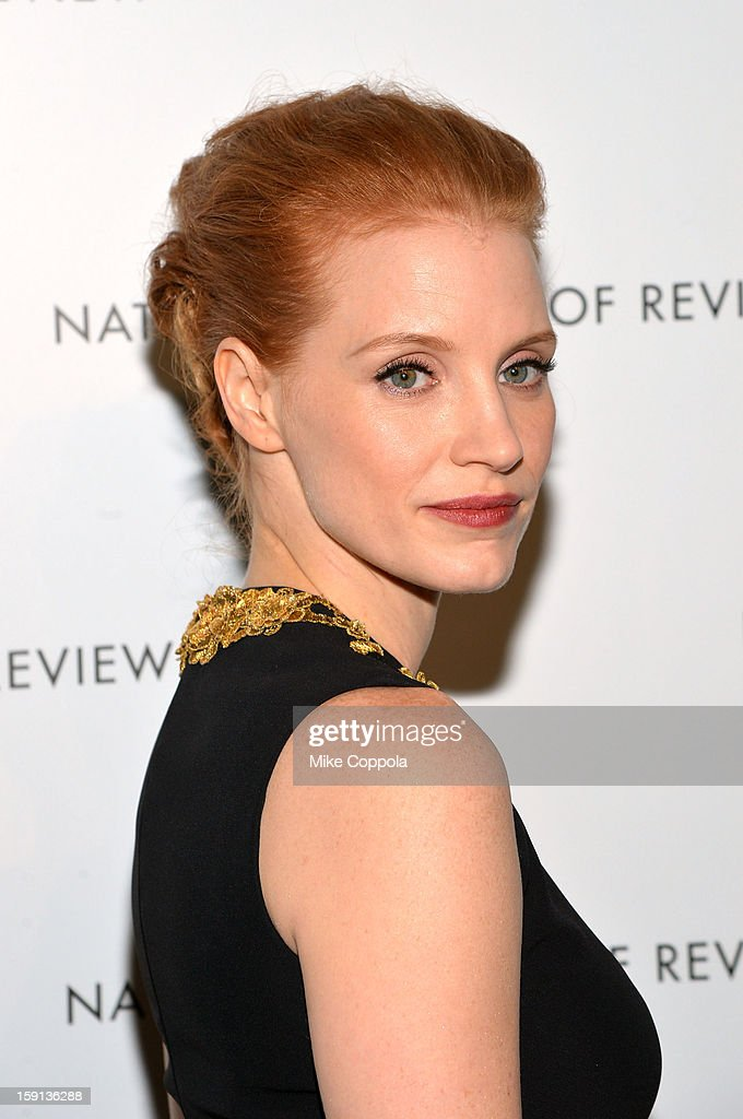 <a gi-track='captionPersonalityLinkClicked' href=/galleries/search?phrase=Jessica+Chastain&family=editorial&specificpeople=653192 ng-click='$event.stopPropagation()'>Jessica Chastain</a> attends the 2013 National Board Of Review Awards Gala at Cipriani 42nd Street on January 8, 2013 in New York City.